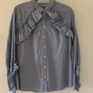 Kenneth Cole NY stripe button down blouse